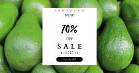 Card design template for sales - #banner #businnes #sales #CallToAction #salesbanner #avacado #lime #LEAF #shapes #juicy #Green #key #vegetarian
