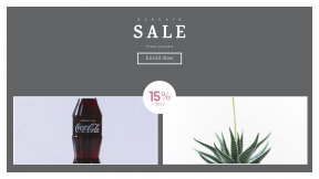 FullHD image template for sales - #banner #businnes #sales #CallToAction #salesbanner #white #drink #green #coca #gardening #cola