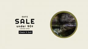 FullHD image template for sales - #banner #businnes #sales #CallToAction #salesbanner #crocodile #terrestrial #fauna #crocodilia #wildlife