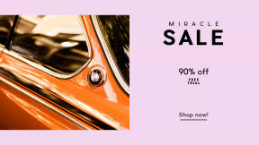 FullHD image template for sales - #banner #businnes #sales #CallToAction #salesbanner #classic #bmw #car #reflection #orange