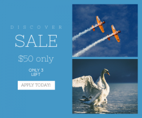 Square large web banner template for sales - #banner #businnes #sales #CallToAction #salesbanner #engineer #engineering #spring #sun #geese #reflection #bird #plane #blur #blue