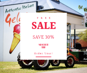 Square large web banner template for sales - #banner #businnes #sales #CallToAction #salesbanner #bright #tractor #agriculture #sunlight #store #gelato #sign #vintage #small #industrial