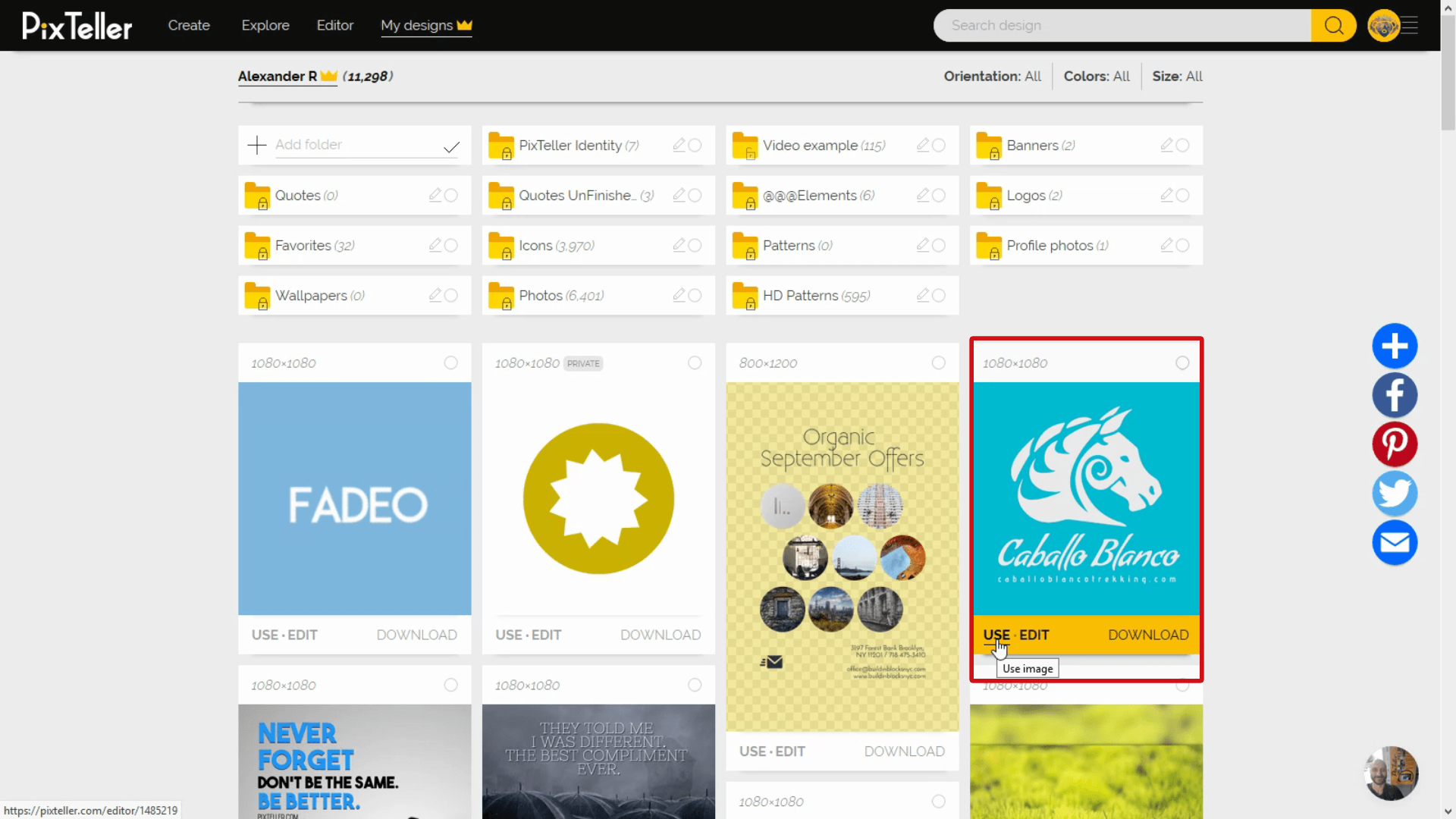 PixTeller Design Page