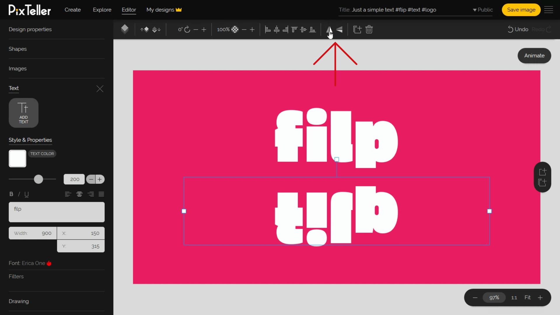Flip element