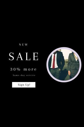 Portrait design template for sales - #banner #businnes #sales #CallToAction #salesbanner #talk #formal #city #meeting #wear #partner #corporatepeople