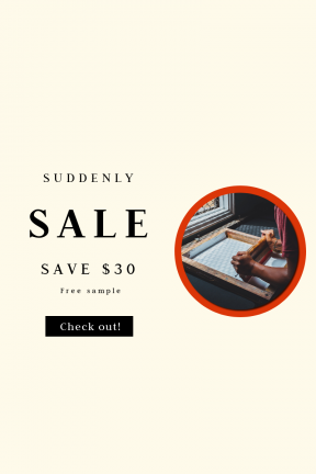Portrait design template for sales - #banner #businnes #sales #CallToAction #salesbanner #work #print #screen #person #office #handcraft #adult #corporate #printing #printery