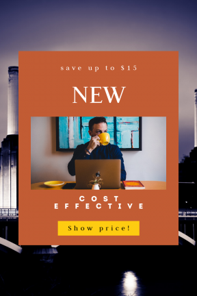 Portrait design template for sales - #banner #businnes #sales #CallToAction #salesbanner #blue #bank #painting #squares #drinking #bridge #business #shapes