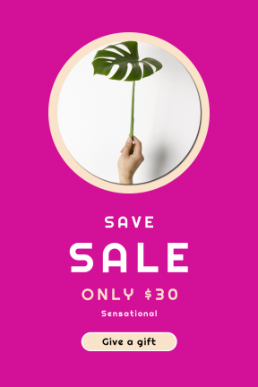 Portrait design template for sales - #banner #businnes #sales #CallToAction #salesbanner #minimalist #plant #arm #decor #circular