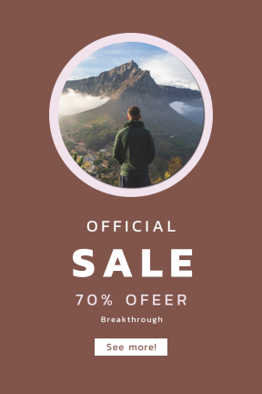 Portrait design template for sales - #banner #businnes #sales #CallToAction #salesbanner #walking #lion #standing #back #hiking #white #climbing #cloud #range #mist