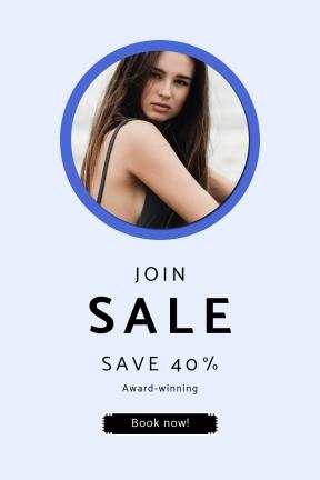 Portrait design template for sales - #banner #businnes #sales #CallToAction #salesbanner #beach #graphic #graphics #makeup #hipster #tool