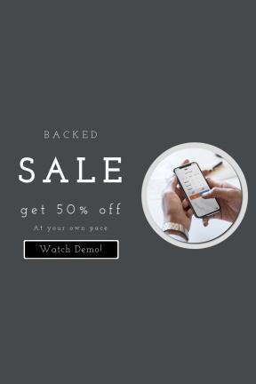 Portrait design template for sales - #banner #businnes #sales #CallToAction #salesbanner #stock #silhouette #shape #woman #watch #device #square
