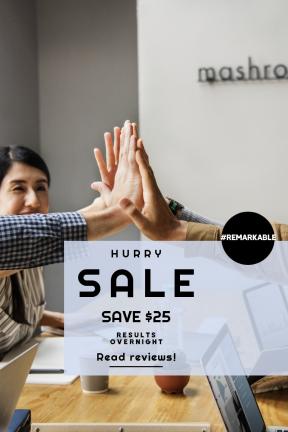 Portrait design template for sales - #banner #businnes #sales #CallToAction #salesbanner #wireless #man #teamwork #five #partnership #working #circular #meeting