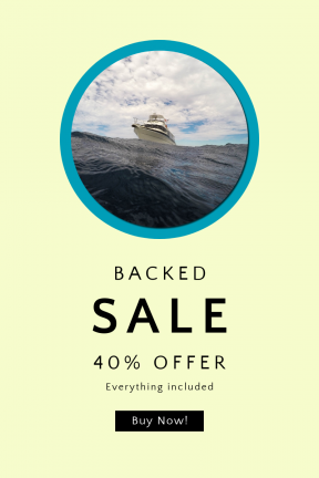 Portrait design template for sales - #banner #businnes #sales #CallToAction #salesbanner #cloud #sail #sea #boat #shapes #circular