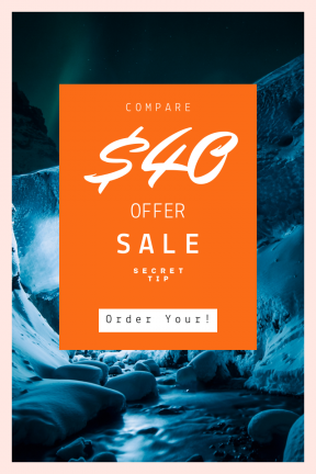 Portrait design template for sales - #banner #businnes #sales #CallToAction #salesbanner #gigjökull #inside #visual #atmosphere #glacial #highlighted