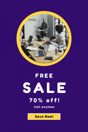 Portrait design template for sales - #banner #businnes #sales #CallToAction #salesbanner #shape #presentation #black #notebook #circle #geometric #filled #shapes