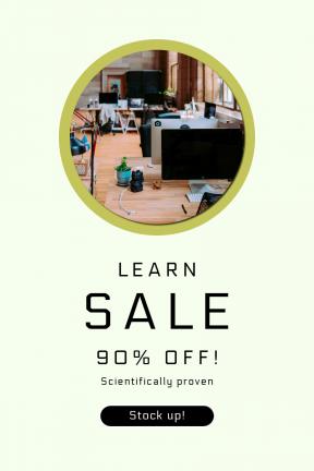 Portrait design template for sales - #banner #businnes #sales #CallToAction #salesbanner #adding #plant #computers #button #flooring #cable