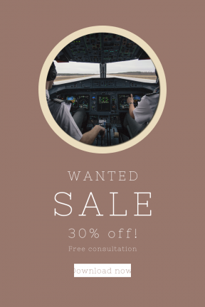 Portrait design template for sales - #banner #businnes #sales #CallToAction #salesbanner #drum #aviation #cockpit #circles #panel