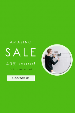 Portrait design template for sales - #banner #businnes #sales #CallToAction #salesbanner #wall #teacher #product #startup #candle #white #hang #square