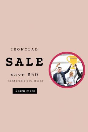 Portrait design template for sales - #banner #businnes #sales #CallToAction #salesbanner #office #raised #winning #business #person #success #celebration #corporate #diversity