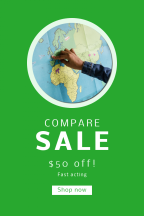 Portrait design template for sales - #banner #businnes #sales #CallToAction #salesbanner #learn #map #travel #credit #card #point #world