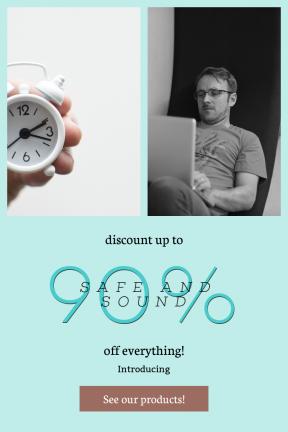 Portrait design template for sales - #banner #businnes #sales #CallToAction #salesbanner #minute #type #sale #beauty #computer #miniature #man #time #alarm