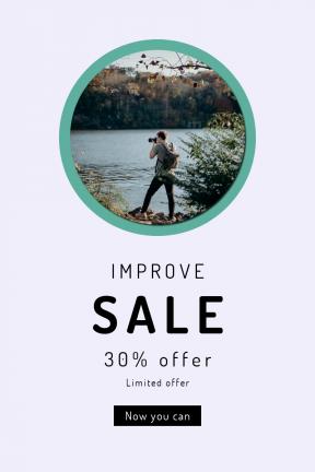 Portrait design template for sales - #banner #businnes #sales #CallToAction #salesbanner #tree #resources #lake #river #bank #recreational #wilderness #sky