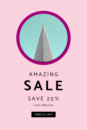 Portrait design template for sales - #banner #businnes #sales #CallToAction #salesbanner #shapes #black #circular #sky #minimalism #minimal #architecture