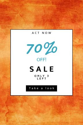 Portrait design template for sales - #banner #businnes #sales #CallToAction #salesbanner #yellow #computer #peach #wallpaper #texture #orange #sky