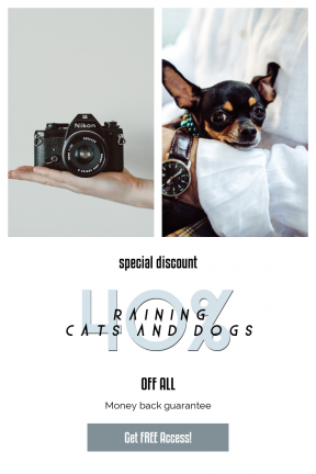 Portrait design template for sales - #banner #businnes #sales #CallToAction #salesbanner #picture #bowwow #pet #puppy #film #hand