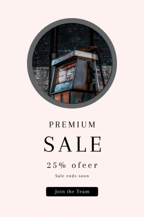 Portrait design template for sales - #banner #businnes #sales #CallToAction #salesbanner #place #petrol #station #wall #adventure #lock #industrial #abandoned #brick #rusty