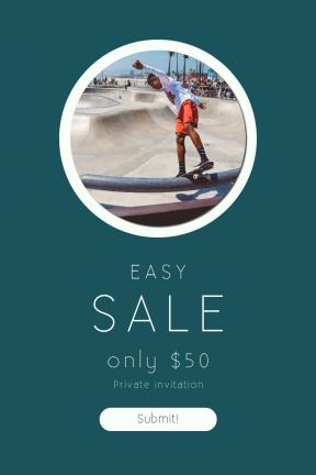 Portrait design template for sales - #banner #businnes #sales #CallToAction #salesbanner #action #shapes #skating #venice #geometrical #balance #geometric #la #los