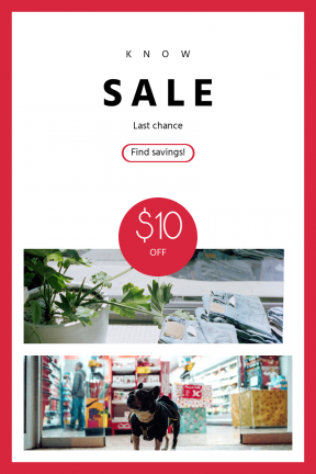 Portrait design template for sales - #banner #businnes #sales #CallToAction #salesbanner #botany #circular #store #geometrical #geometric #pet #flowerpot #shape