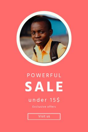 Portrait design template for sales - #banner #businnes #sales #CallToAction #salesbanner #west #yellow #african #drum #melanin #africa #school