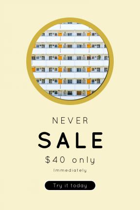 Portrait design template for sales - #banner #businnes #sales #CallToAction #salesbanner #osaka #apartment #flat #shape #unit #black #view #structure