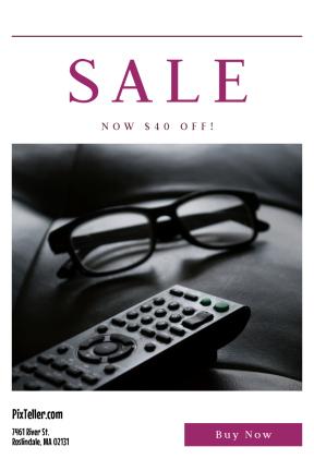 Portrait design template for sales - #banner #businnes #sales #CallToAction #salesbanner #close-up #monochrome #relaxation #glass #reading #black #white