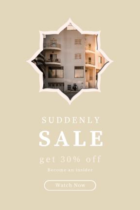 Portrait design template for sales - #banner #businnes #sales #CallToAction #salesbanner #scalloped #clouds #apartment #circles #wavy #golden #boxes #building #shapes #sunshine