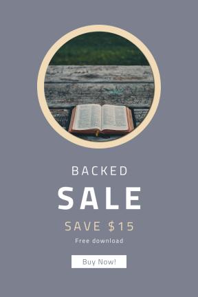 Portrait design template for sales - #banner #businnes #sales #CallToAction #salesbanner #card #grass #picnic #wood #bible