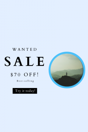 Portrait design template for sales - #banner #businnes #sales #CallToAction #salesbanner #view #forest #hike #mountain #top #range #nature #summit #dense #poeple