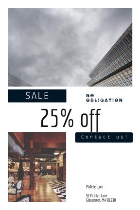 Portrait design template for sales - #banner #businnes #sales #CallToAction #salesbanner #cloud #architecture #café #exterior #rounded #wood #control #sky #metal
