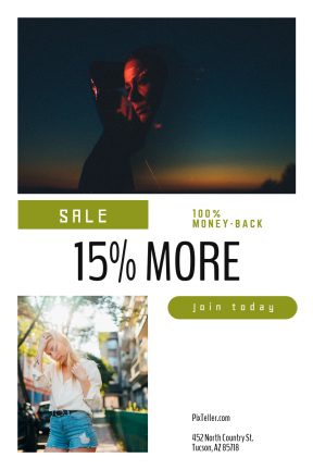 Portrait design template for sales - #banner #businnes #sales #CallToAction #salesbanner #person #shorts #street #filter #sky #pose #adding #circular #woman