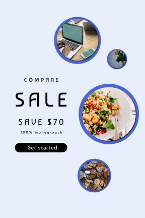 Portrait design template for sales - #banner #businnes #sales #CallToAction #salesbanner #vase #plate #in #startup #shapes