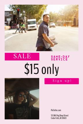 Portrait design template for sales - #banner #businnes #sales #CallToAction #salesbanner #silhouette #sunglasses #portrait #modern #sales #shape