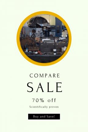 Portrait design template for sales - #banner #businnes #sales #CallToAction #salesbanner #shop #garage #buttons #A #table #mechanic's #workbench #button