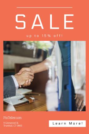 Portrait design template for sales - #banner #businnes #sales #CallToAction #salesbanner #shaking #deal #squares #business #success