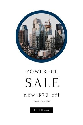Portrait design template for sales - #banner #businnes #sales #CallToAction #salesbanner #tower #wallpapers #cityspace #skyline #wallpaper