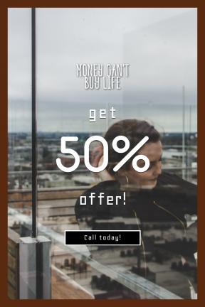 Portrait design template for sales - #banner #businnes #sales #CallToAction #salesbanner #urban #caucasian #hotel #woman #geometry #lifestyle
