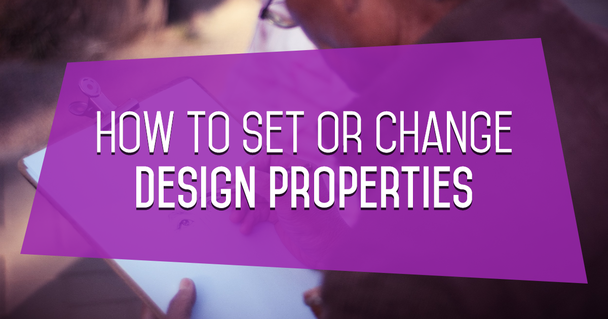 How to Set or Change Design Properties on PixTeller