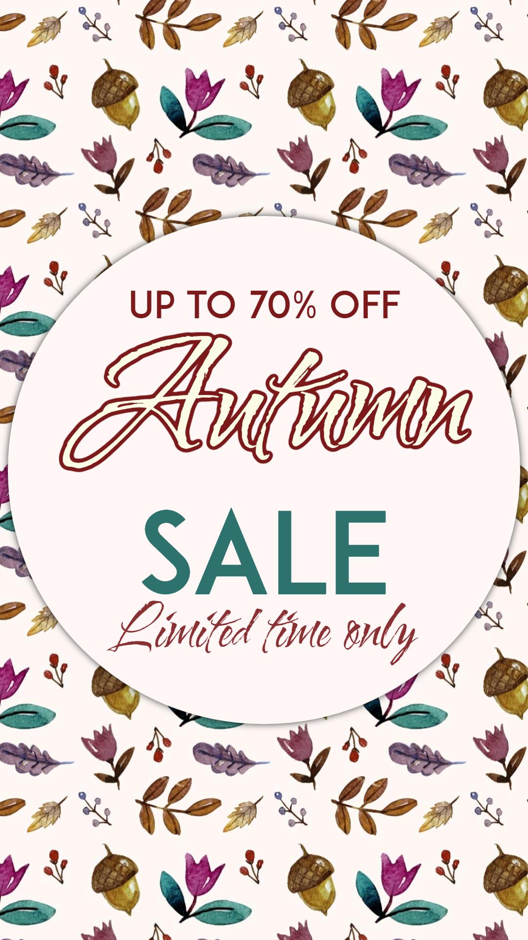 Autumn sale #autumn #sale #shop Animation  Template