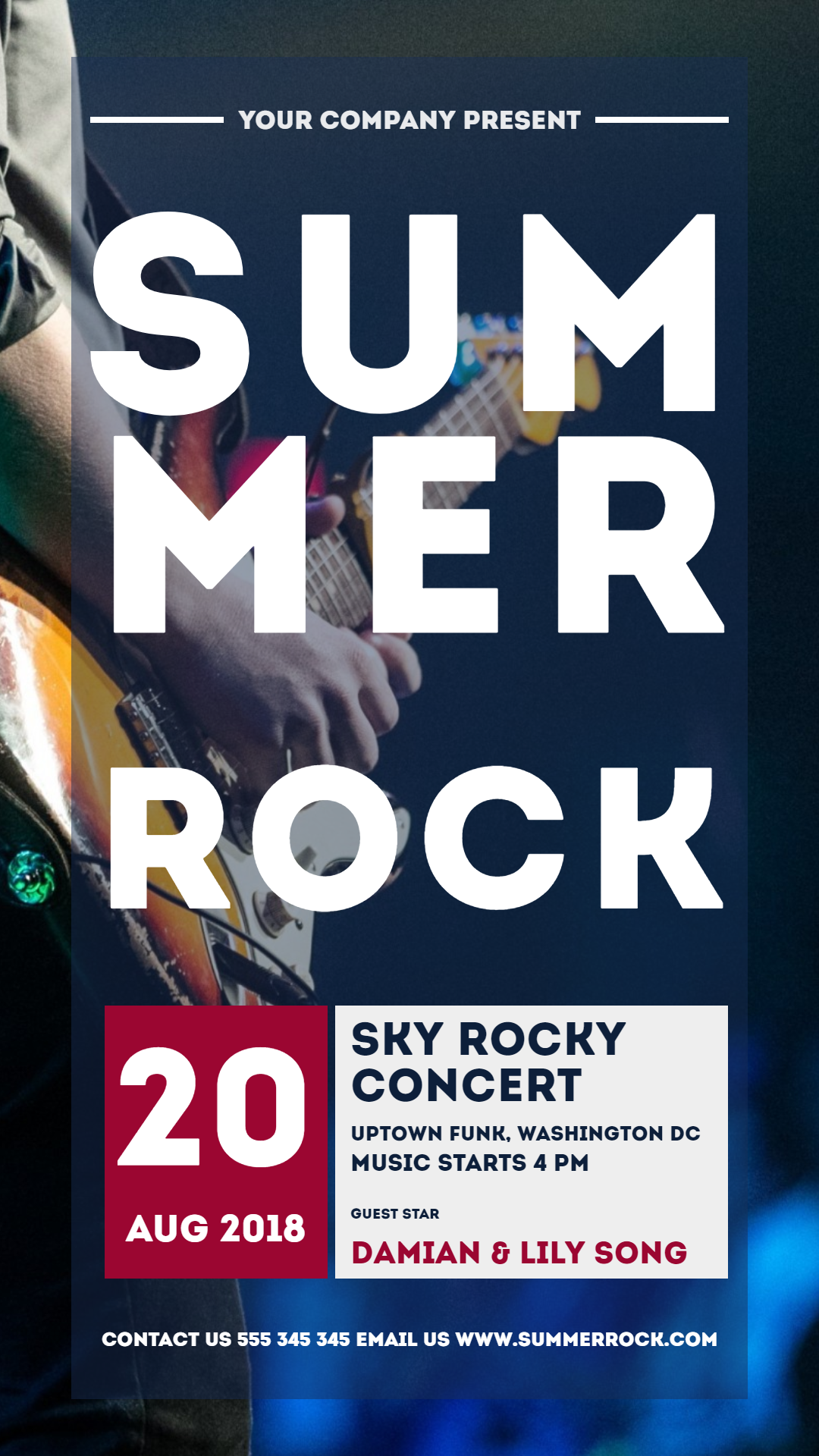 summer rock #concerts #invitation Animation  Template