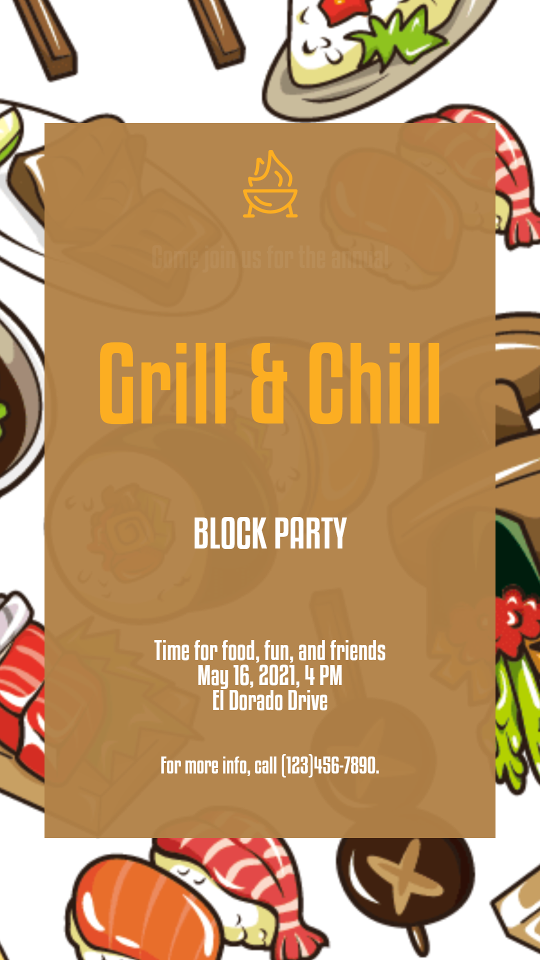 Grill and chill #invitation #grill Animation  Template